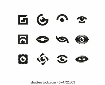Modern vector professional sign logo eyes