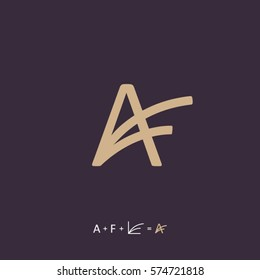 Modern vector professional sign logo AF monogram