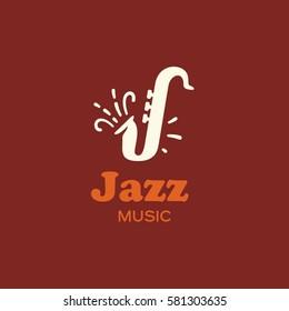 Modern vector professional sign logo jazz music