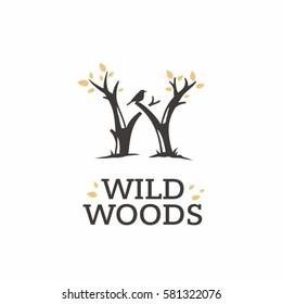 Modern vector professional sign logo wild woods
