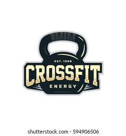 Modern vector professional sign logo emblem for crossfit