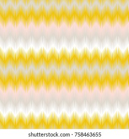 Modern vector seamless pattern with abstract zigzags. Fabric look geometric repeat in retro pastel colors.