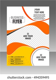 Modern vector stylish brochure flyer poster template design