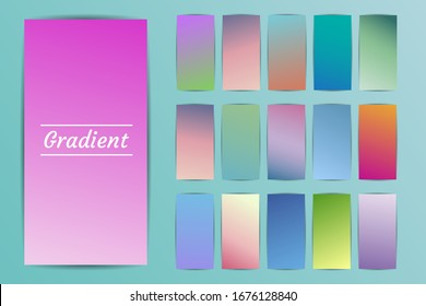 Modern vector template for cover, poster, brochure, mobile app. Abstract color gradient background