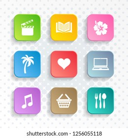 Modern vector universal leisure web and mobile icons