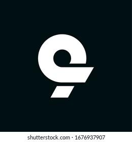 Modern Vector Wing Logo Number 9. 9 Number Design Vector