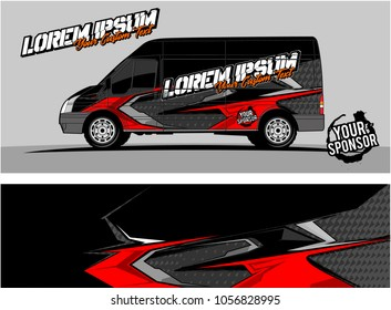 modern vehicle graphic kit. Abstract racing background for car, truck, van, boat wrapping decals. can be used for other background graphic needed too.