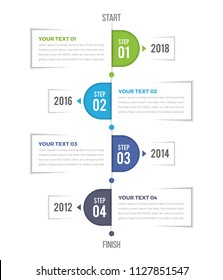 Modern Vertical Timeline Infographics with 04 Steps