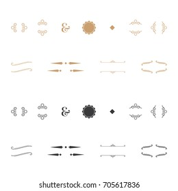 Modern Vintage Ornaments - Collection of black and gold vintage ornaments