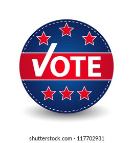 Modern voting blue badge
