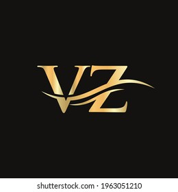 Modern VZ Logo Design for business and company identity. Creative VZ letter with luxury concept