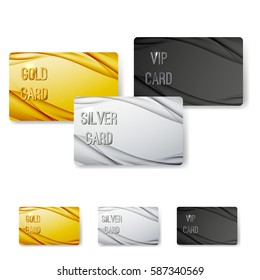 Modern wave abstract vip card collection with swoosh halftone dynamic lines rich element. Vector illustration