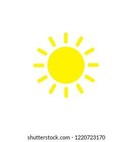Modern weather flat icons set. Flat vector symbols on coloured backgrounds.