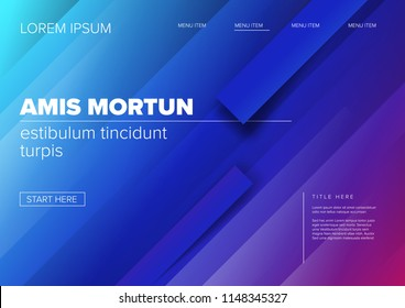 Modern web landing page, flyer or background template