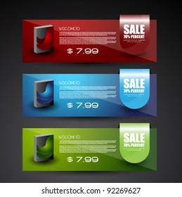 modern web sale banner set