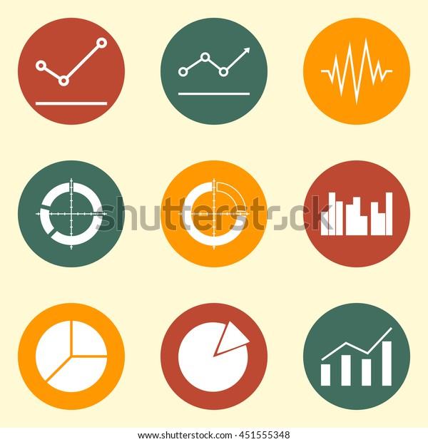 Modern Web Symbol Collection Of Statistics Icon Set.