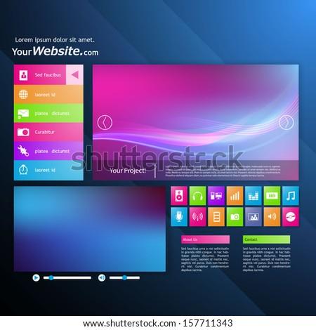 Modern Website Design Template Metro Style Stock Vector Royalty
