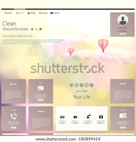 modern website template bokeh vintage style stock vector royalty