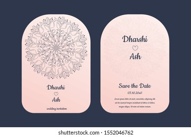 Modern Wedding cards / invitation - floral pattern with new color combinations - fully editable eps 10 format