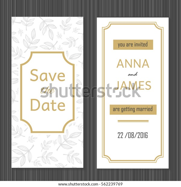 Modern Wedding Invitation Abstract Design Stock Vector (Royalty ...