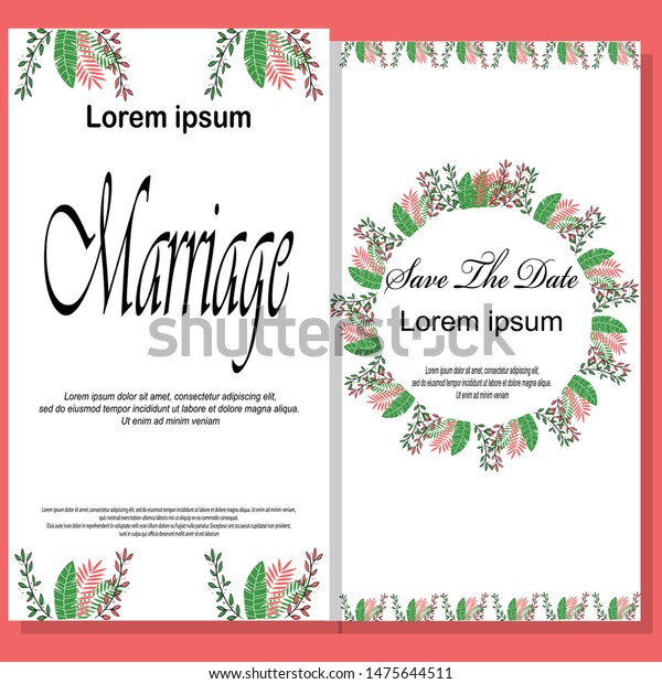 Modern Wedding Invitation Template Modern Design Stock Vector ...