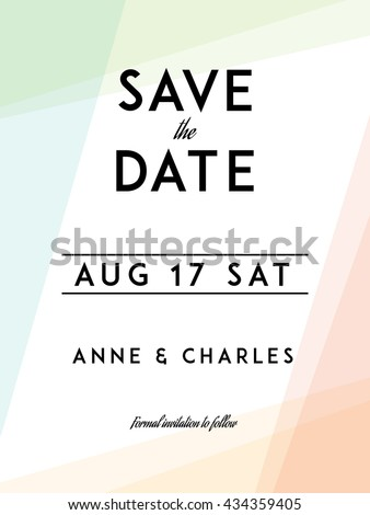 modern wedding save date template modern stock vector royalty free