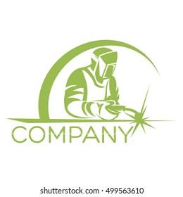 Modern welder logo