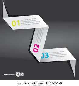 Modern White and black Design template / can be used for infographics / numbered banners / graphic or website layout vector