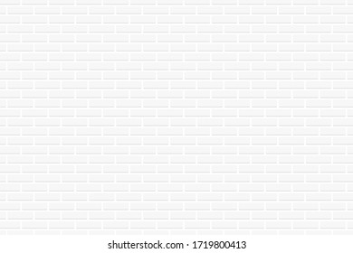 Modern white brick wall texture for wallpaper,background,gallery,vector illustration.