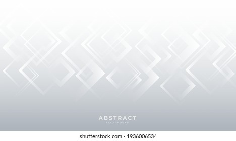 Modern white gray abstract background  creative design. abstract light silver vector, banner, web, squares texture