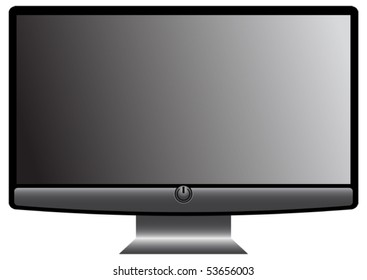 Modern wide-screen television - vector - eps 10