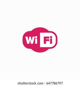 Modern WiFi icon.