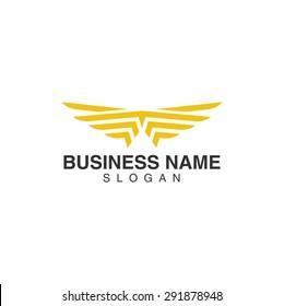 Modern wing logo template