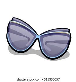 Modern women's fashionable sunglasses isolated on white background. Vector illustration.