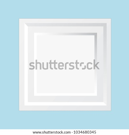 Modern Wooden White Square Wall Frame Stock Vector Royalty Free