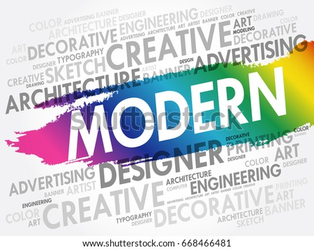 modern word cloud creative business concept stock vector royalty