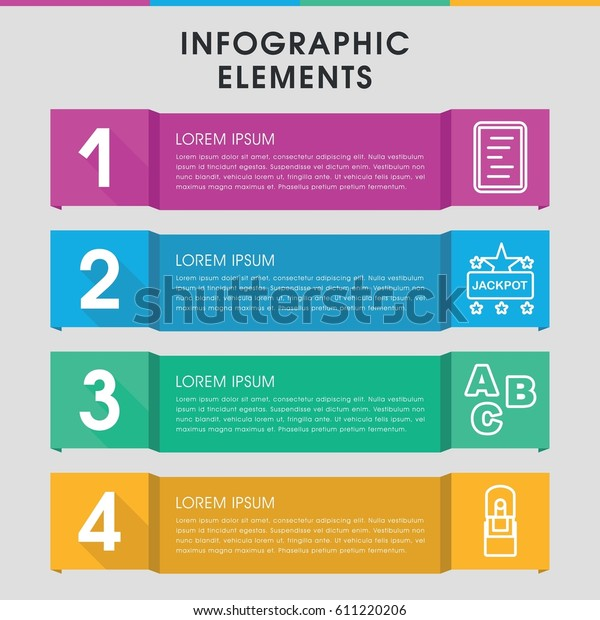 Modern Word Infographic Template Infographic Design Stock