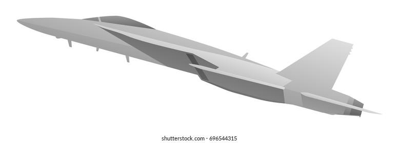 Modern world class military fighter jet aircraft vector illustration