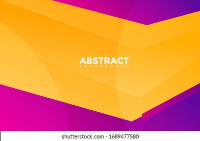 Modern Yellow Color Abstract Background Vector