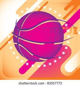 Modish basketball banner. Vector illustration.
