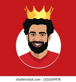 Mohamed Salah, Egyptian King, football soccer , Mo Salah player portrait