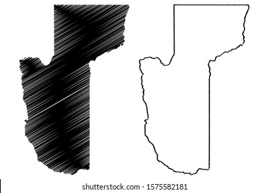 Mohave County, Arizona (U.S. county, United States of America,USA, U.S., US) map vector illustration, scribble sketch Mohave map
