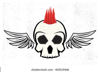 mohawk skull hairstyle