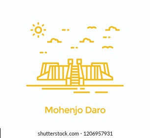 Mohenjo daro is a ruined site in sindh pakistan