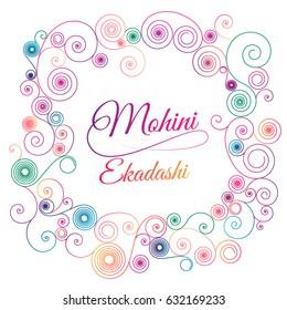 Mohini Ekadashi vector illustration for banner or poster