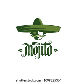 Mojito logo, cocktail menu, advertisement, cafe, restaurant