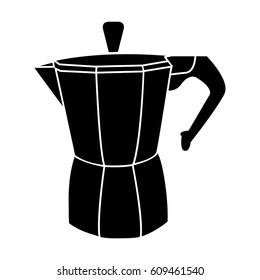 moka pot coffee icon