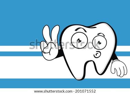 Molar Dental Cartoon Wallpaper In Vector Format Very Easy To Edit