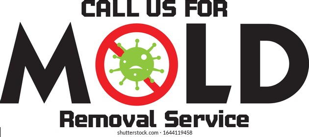 Mold removal service company call us vector. Easy to use.