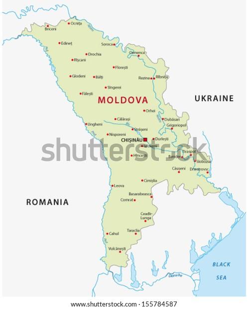 Moldova Map Stock Vector (Royalty Free) 155784587